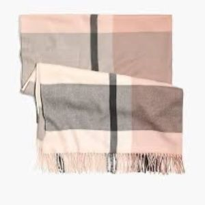 nwt jcrew plaid blanket scarf h2378